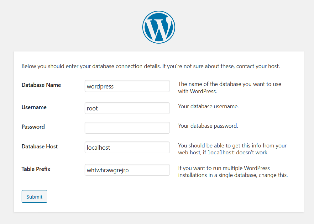 WordPress Config