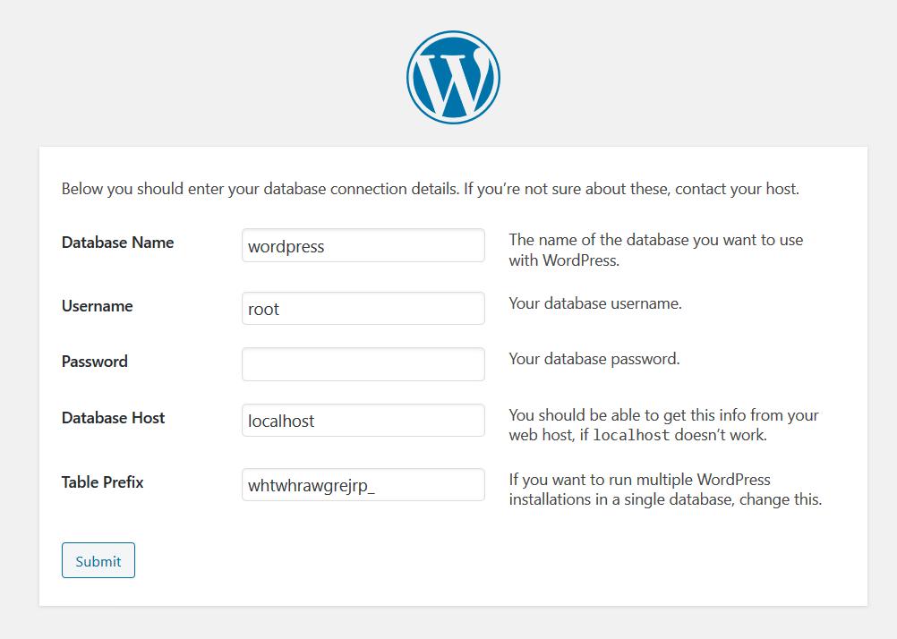 WordPress Config